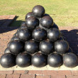 Charleston Cannon Ball Statue — Stock Photo