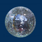 Disco shiny ball, sphere — Stock Photo