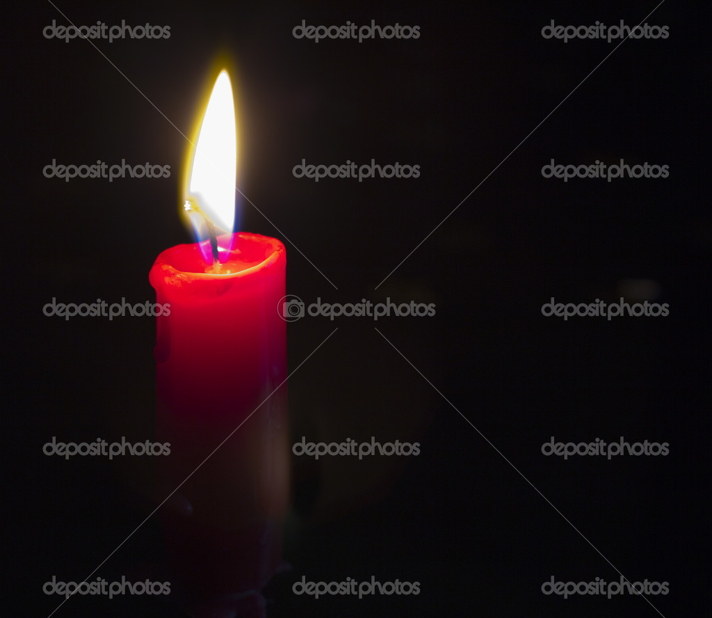 Candlelight on black  Stock Photo #10141464