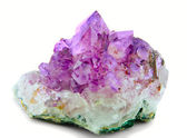 Crystal purple amethyst — Stock Photo