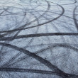Tire track on asphalt — Stock Photo #8370610