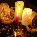 蜡烛静物 — 图库照片