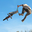 Stock Photo: BMX cycling teenager