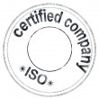 "Stock Photo: Stamp ""iso certified company"""