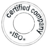 "Stamp ""iso certified company"" — Stock Photo"