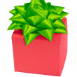 Gift box  bow isolated — Stock Photo