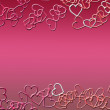 Hearts as background for Valentine day — Stok Fotoğraf #9578199