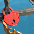 Padlock heart — Stock Photo