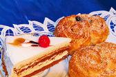 Ekmek ve bisküvi — Stok fotoğraf