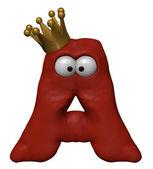 Lettera di cartone animato con corona — Foto Stock
