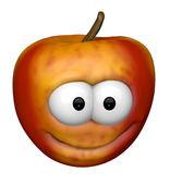 Funny apple — Stock Photo