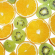 Stock Photo: Multifruit background