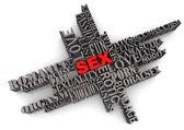 SEX Abstract Design — Stock Photo