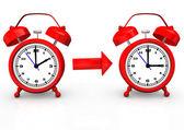 Změna času na letní čas — Stock fotografie