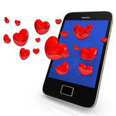 Mobile Dating — Stock Photo