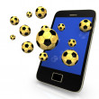 Smartphone Golden Footballs - Photo
