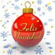 Christmas Tree Bauble - Feliz Navidad — Stock Photo