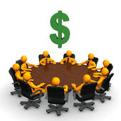 Dollar Conference Table — Stock Photo