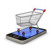 Mobile Shopping — Stock Photo