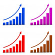 Chart Icons - Stock Photo