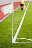 Soccer linesman — Stock Photo