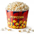 Big bucket of popcorn - Stock Photo