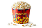 Big bucket of popcorn — Stock Photo