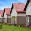Townhouses with household lawns — Stock Photo #9726958
