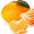 Segments and the whole tangerine — Stock Photo