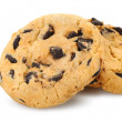 Stock Photo: Chocolate chip cookies isolated on white background.