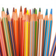 Set of plastic colour pencils — Stock Photo