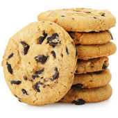A stack of chocolate chip cookies — Stock Photo