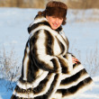 Womin mink fur coat — Stock Photo #8899006