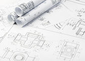 The plan industrial details — Stock Photo