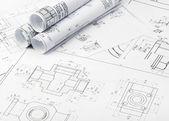 Os detalhes de plano industrial — Fotografia Stock