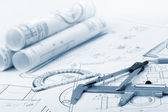 Промышленные детали плана — Стоковое фото