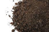 Heap dirt the top view — Stock Photo