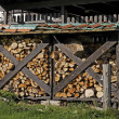 Stock Photo: Well seasoned firewood, ovenwood