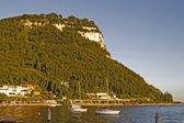 Garda, view of the promenade at Lake Garda in a southerly direction, Italy — Stock Photo