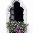 Garda, old part of town, facade detail, Lake Garda, Veneto, Italy, Europe — Foto Stock