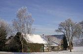 Farm in winter in Hilter-Hankenberge, Osnabruecker land, Germany — Stock Photo