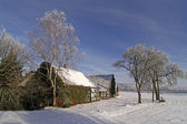 Farm in winter in Lower Saxony, Germany — Stock Photo