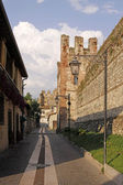 Scaliger castle in Lazise, Lake Garda, Italy, Europe — Stock Photo
