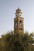 Kerk s. nicolo in lazise bij het gardameer, italië, europa — Stockfoto