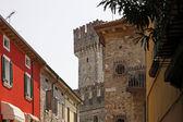 Sirmione, oude stad lane, italië, europa — Stockfoto