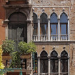 Venice, palace, facade detail, Veneto, Italy, Europe — Stock Photo #9491340