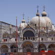 Basilica San Marco, front of Marks Church, Venice — Stock Photo #9491395