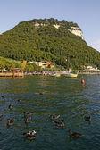 Garda, view of the promenade at Lake Garda. Italy — Stock Photo