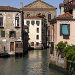Venice, canal with beautiful old houses in Italy, Europe — Stock Photo
