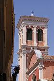 Venice, tower of the church Santuario Madonna — Stock Photo
